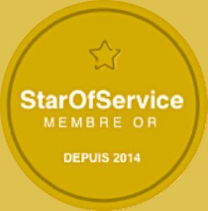 membre d'or de Star of Service en 2014