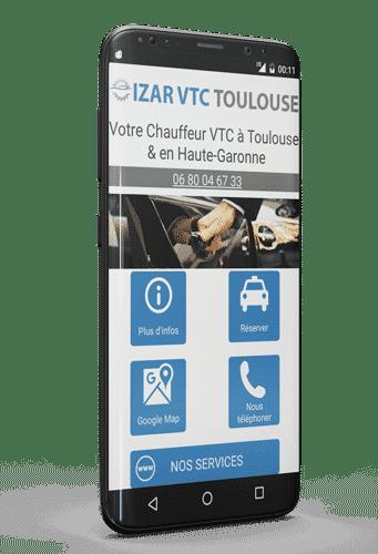 Application Android de votre VTC à Toulouse